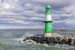 A lighthouse at Warnemünde
