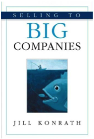 "Click on the book to grab your own copy of ""Selling to Big Companies"""