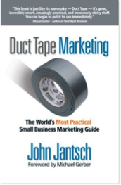"Click on the book to grab your own copy of ""Duct Tape Marketing"""