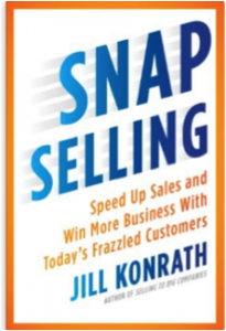 "Click the book to grab your own copy of ""Snap Selling"""