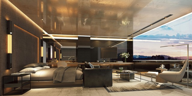 Far from spartan: Scenic Eclipse Owner's Penthouse Suite.