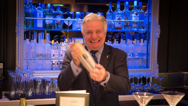 Master Mixologist Dale DeGroff, aka King Cocktail, on Holland America Line's Eurodam.