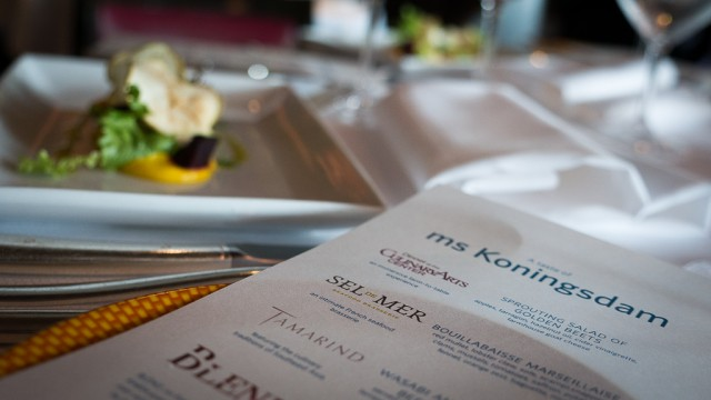 We got to sample menus that will debut on Holland America Line's Koningsdam.