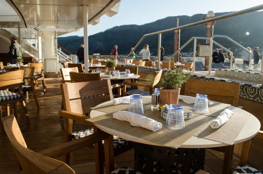 Breakfast on the Aquavit Terrace aboard Viking Star.