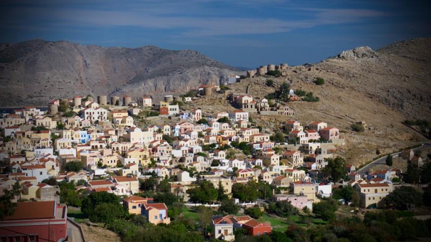 View of Symi, Greece.
