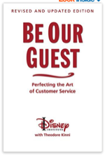 "Click on the book to grab your own copy of ""Be Our Guest: Perfecting The Art of Customer Service"""