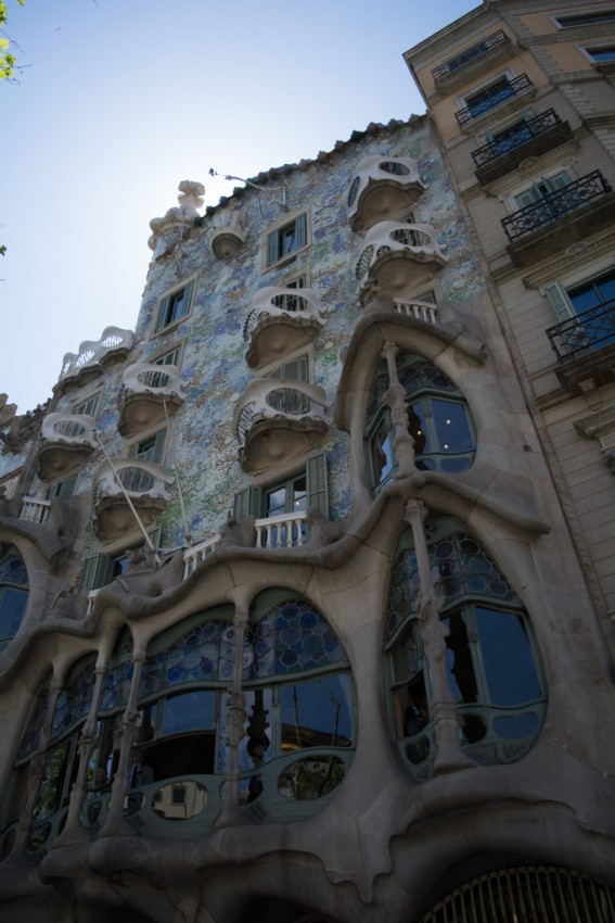 The facade of Gaudi's amazing Casa Batllo.