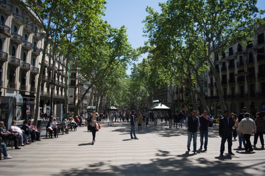 Las Ramblas: 1.2 kilometres of pedestrian (and tourist)-friendly amenities.