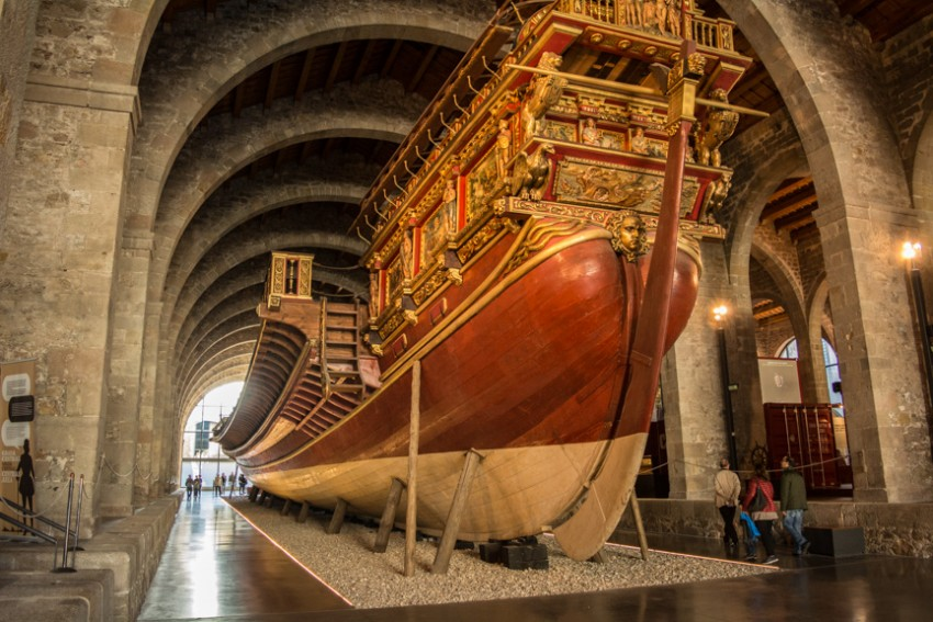 The Barcelona Maritime Museum is housed within a former Medieval shipyard.