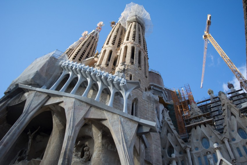 Gaudi's unfinished masterwork: Sagrada Familia.