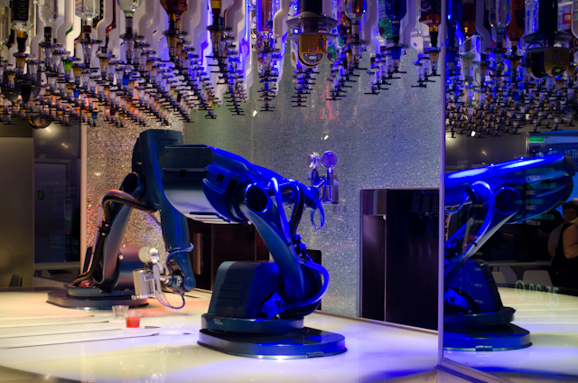 The Bionic Bar was first introduced aboard Quantum of the Seas