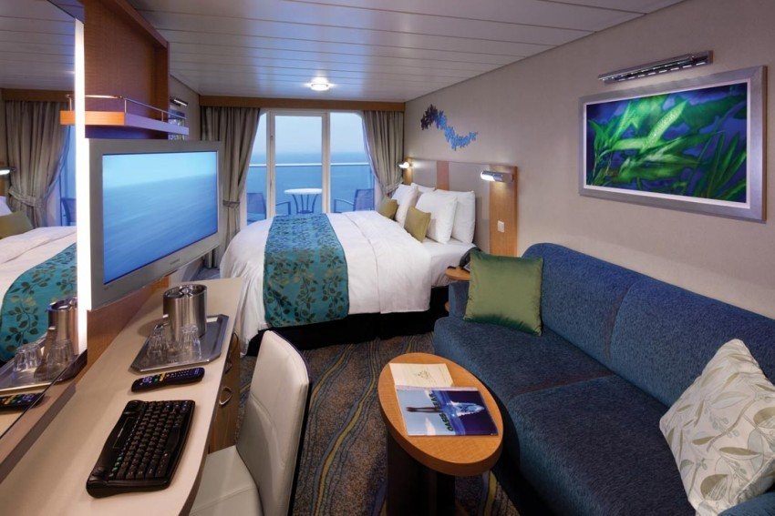 Many staterooms aboard Harmony of the Seas are larger than those on Royal Caribbean's previous vessels