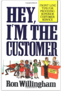 "Click on the book to grab your own copy of ""Hey, I'm The Customer"""
