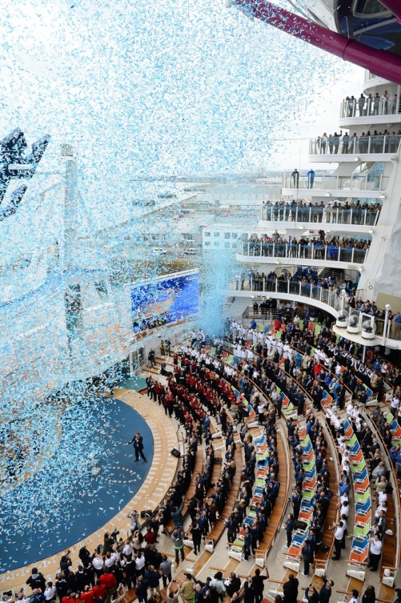 Harmony of the Seas was christened on May 12, 2016 in Southampton, England.