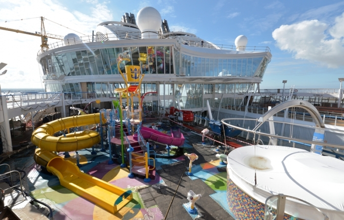 Harmony of the Seas boasts Royal Caribbean's first true shipboard waterslides.