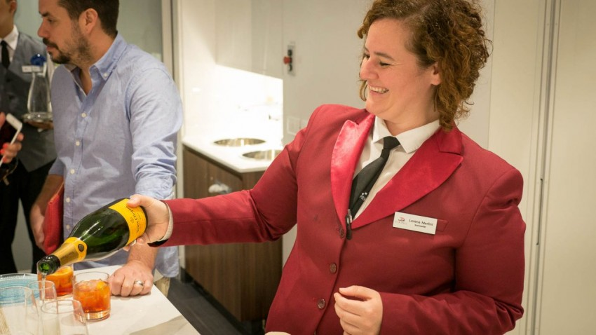 World Class Sommelier From Milan, Italy, Lorena Merlini has a passion for her job as sommelier on Viking Sea - and it shows.