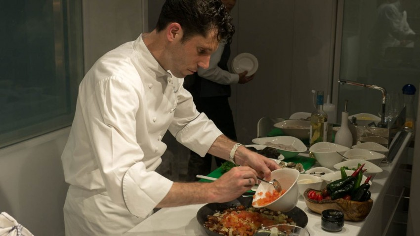 Cooking Up Something Anthony Mauboussin, director of culinary development for Viking Ocean Cruises, at The Kitchen Table.