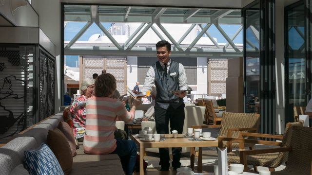 Daily tea service is offered in the Wintergarden.