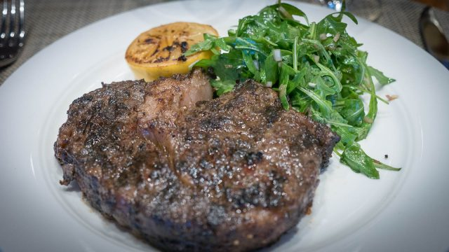 Viking Sea's Bistecca Fiorentina melts in your mouth.