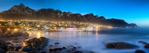 The shore of Cape Town at dusk