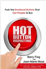 "Click on the book to grab your own copy of ""Hot Button Marketing"""