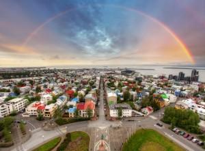 The cityscape of Reykjavik