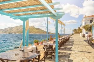 The cobblestoned streets of Aegina