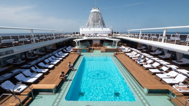 Pool deck on Regent Seven Seas Explorer.