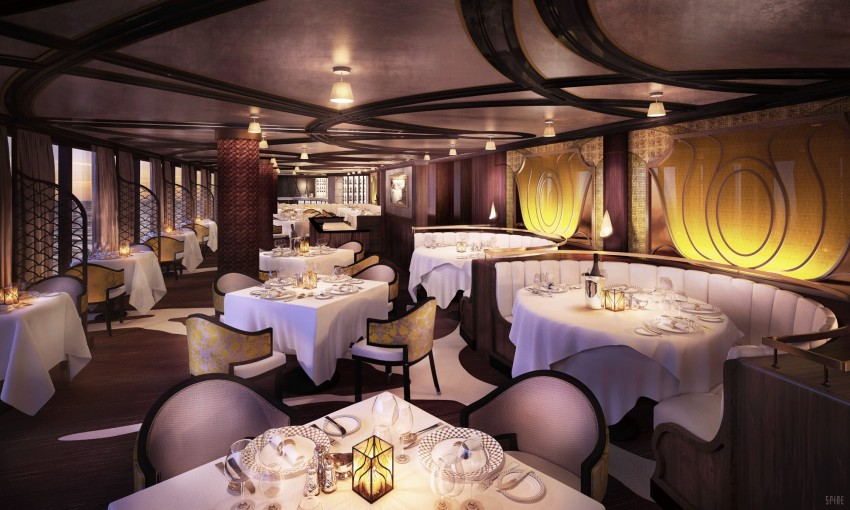 Elegant dining is on the menu in Chartreuse.