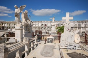An ornate cemetery in Cienfuegos