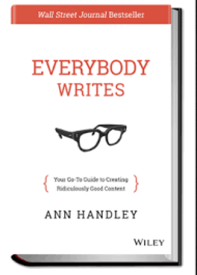 "Click on the book to grab your own copy of ""Everybody Writes"""