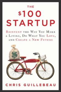 "Click on the book to grab your own copy of ""The $100 Startup"""