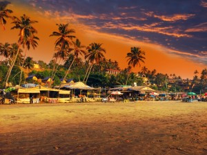 Sunset at one of the many beaches of Goa