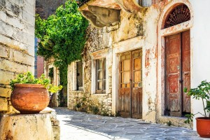 The streets of Naxos
