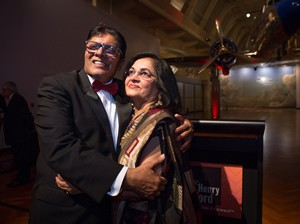 Arvin Shah and his wife Jaya