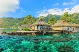 One of the many resorts in the town of Papeete in Tahiti
