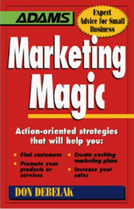 "Click on the book to grab your own copy of ""Marketing Magic"""