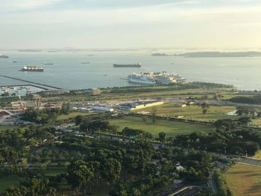 Seabourn Encore and Seabourn Sojourn in Singapore.