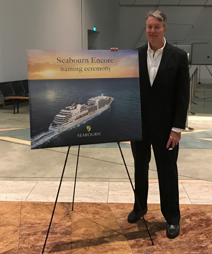 Ready to launch: Seabourn Encore in Singapore.