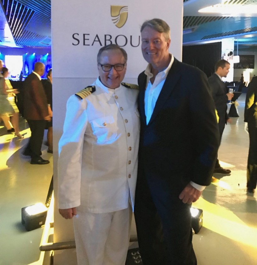 With Seabourn Encore's Captain, Mark Dexter.