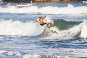 Catching waves in Sayulita