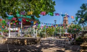 The main plaza in Puerto Vallarta