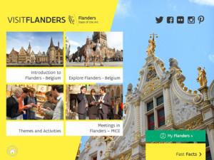 A screenshot from the FlandersInsider tablet app.
