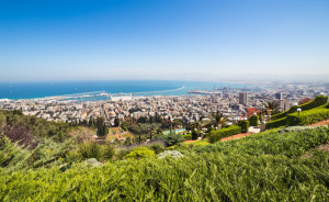 Haifa as seen from Mount Carmel.