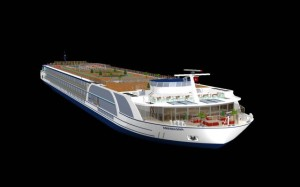 A rendering of AmaMagna. Courtesy of AmaWaterways