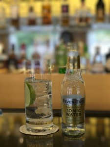 Viking uses quality touches throughout, such as Fever Tree tonic in bottles. I saw no plastic on board Viking Hlin. © 2017 Ralph Grizzle