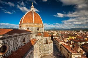 Wonderful sky colors in Piazza del Duomo - Firenze.