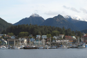 Sitka Harbor, Baranof Island, Alaska.