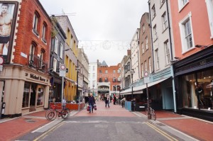 Grafton Street is a pedestrian thoroughfare and the main shopping street in central Dublin. It runs from College Green to Saint Stephens Green.