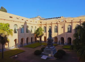 View of the patio of the National University of Cordoba.